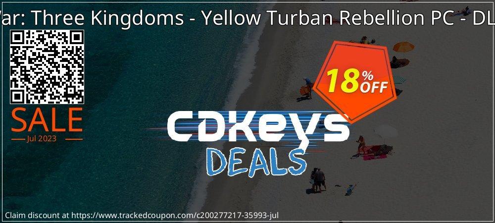 Total War: Three Kingdoms - Yellow Turban Rebellion PC - DLC - WW  coupon on Cheese Pizza Day deals