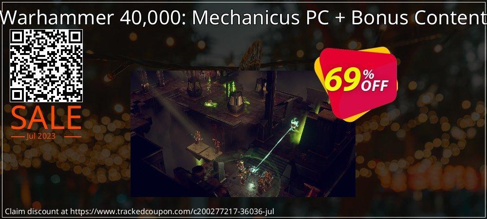 Get 69% OFF Warhammer 40,000: Mechanicus PC + Bonus Content promo sales