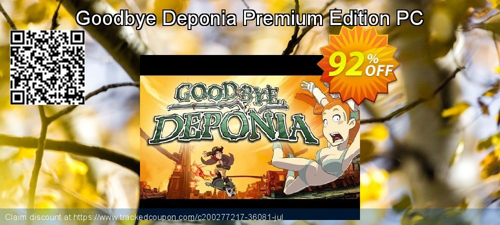 Get 89% OFF Goodbye Deponia Premium Edition PC offering sales