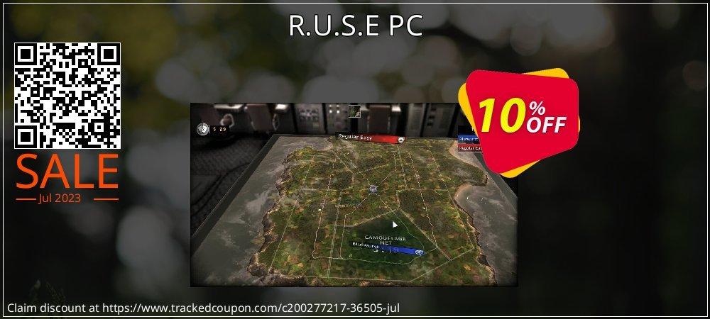 Get 10% OFF R.U.S.E PC deals