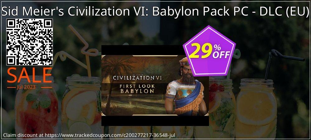Get 25% OFF Sid Meier's Civilization VI: Babylon Pack PC - DLC (EU) offering sales