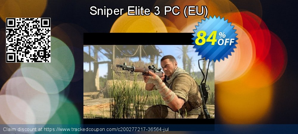 Get 84% OFF Sniper Elite 3 PC (EU) offering deals