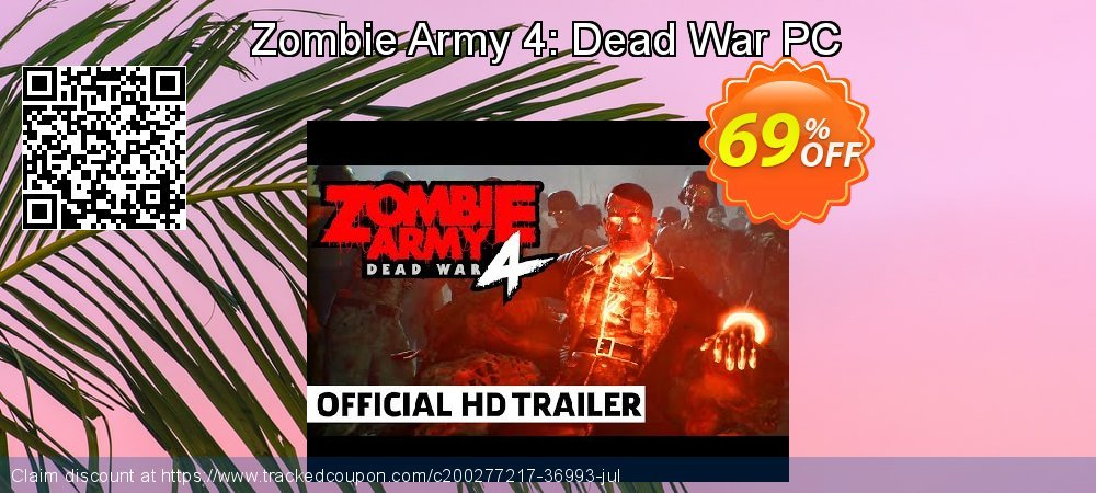 Zombie Army 4: Dead War PC coupon on Father's Day promotions