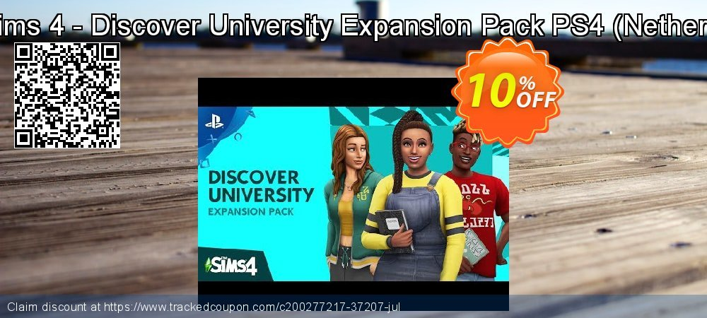 Get 10% OFF The Sims 4 - Discover University Expansion Pack PS4 (Netherlands) sales
