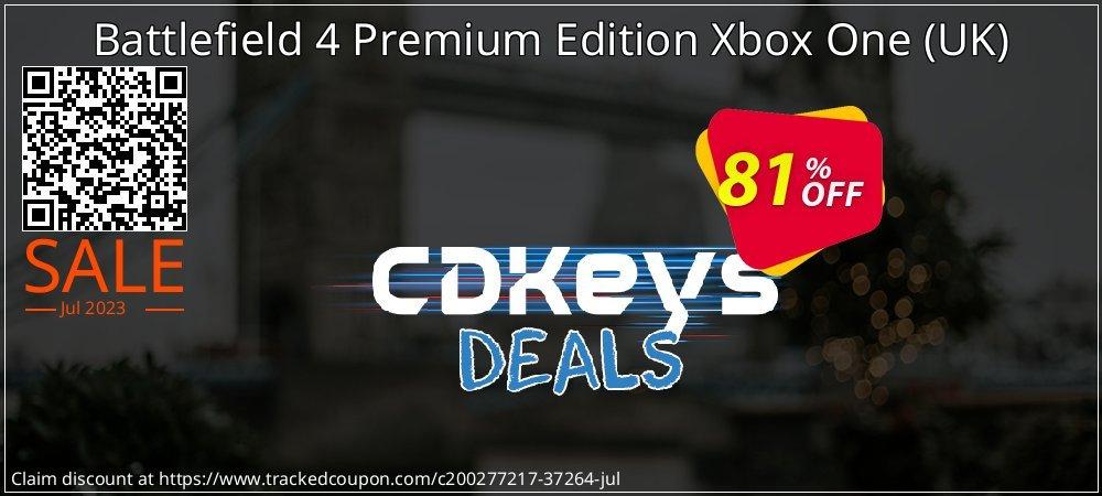 Get 76% OFF Battlefield 4 Premium Edition Xbox One (UK) offering sales