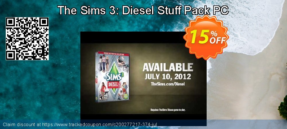 The Sims 3: Diesel Stuff Pack PC coupon on Happy New Year offering sales