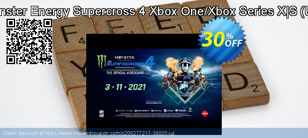 Monster Energy Supercross 4 Xbox One/Xbox Series X|S - UK  coupon on World Bicycle Day super sale
