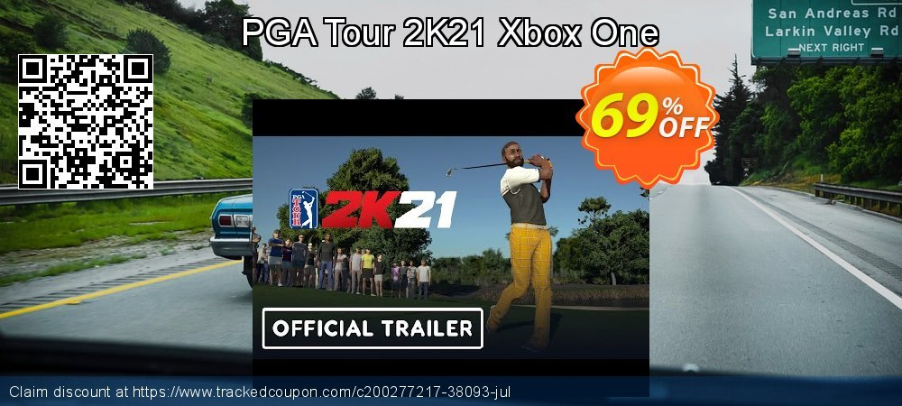 PGA Tour 2K21 Xbox One coupon on National Kissing Day deals