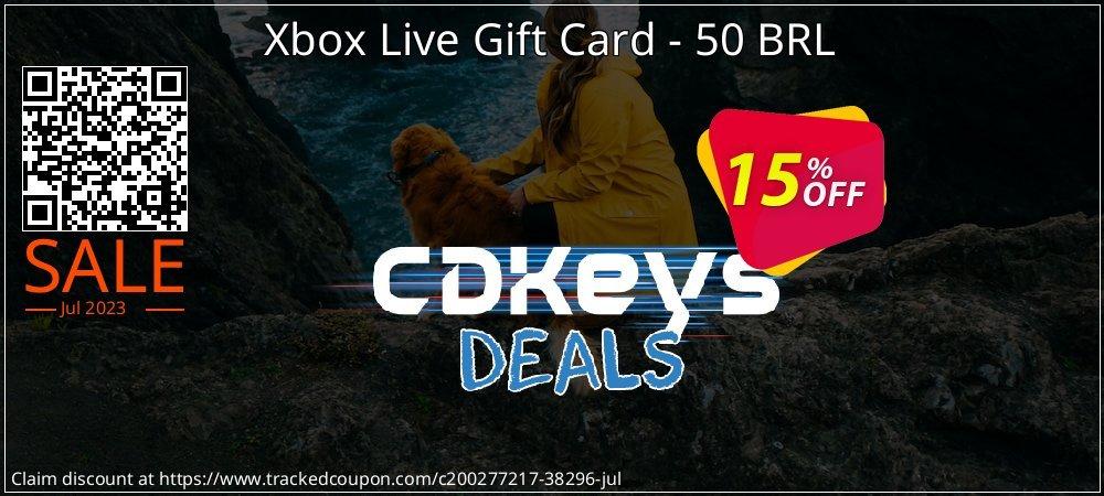 Get 10% OFF Xbox Live Gift Card - 50 BRL offering deals