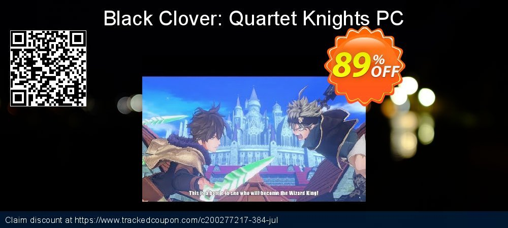 Get 83% OFF Black Clover: Quartet Knights PC offering sales