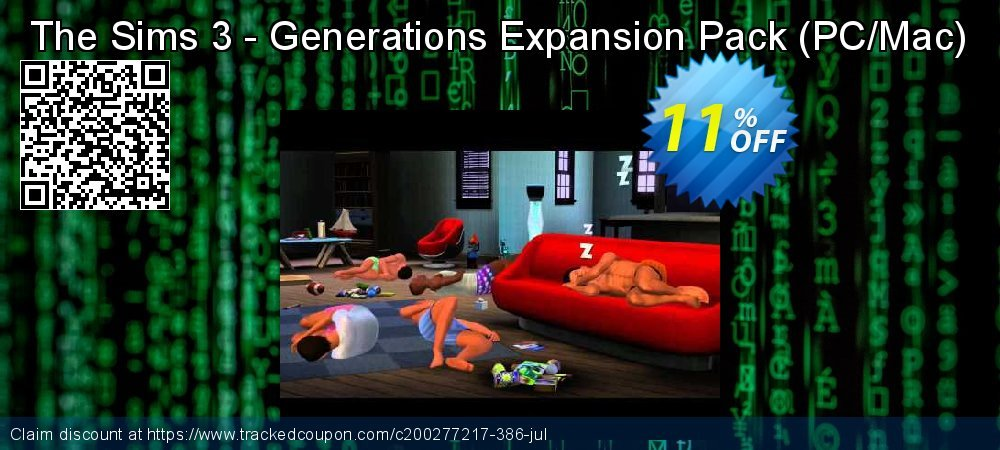 The Sims 3 - Generations Expansion Pack - PC/Mac  coupon on World UFO Day offering sales