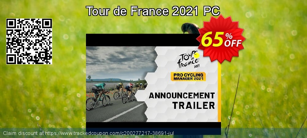 Tour de France 2021 PC coupon on National Kissing Day offering sales