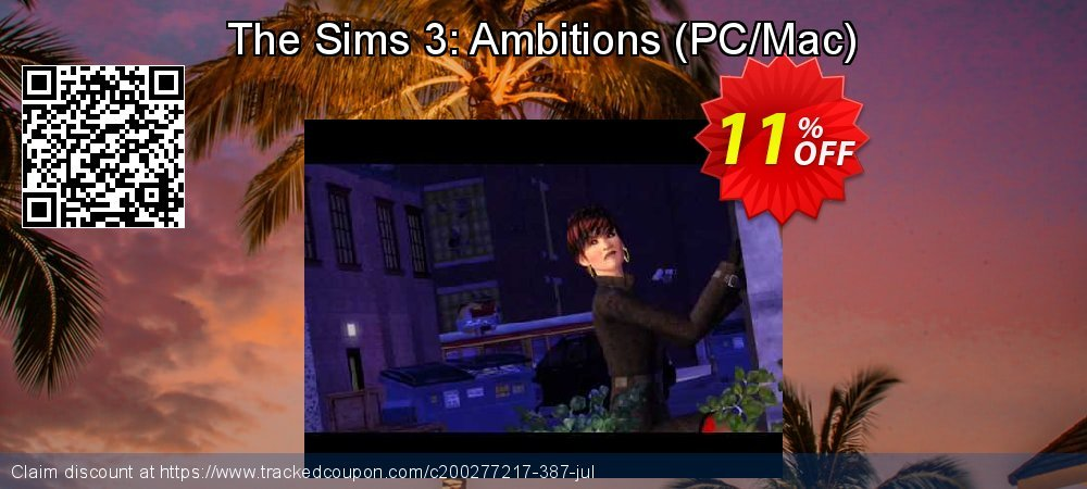 The Sims 3: Ambitions - PC/Mac  coupon on Back to School promotion promotions