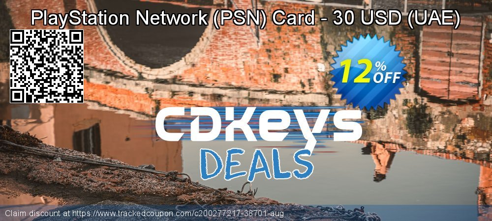 PlayStation Network - PSN Card - 30 USD - UAE  coupon on World Bicycle Day super sale