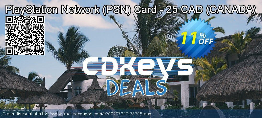 PlayStation Network - PSN Card - 25 CAD - CANADA  coupon on World Day of Music deals