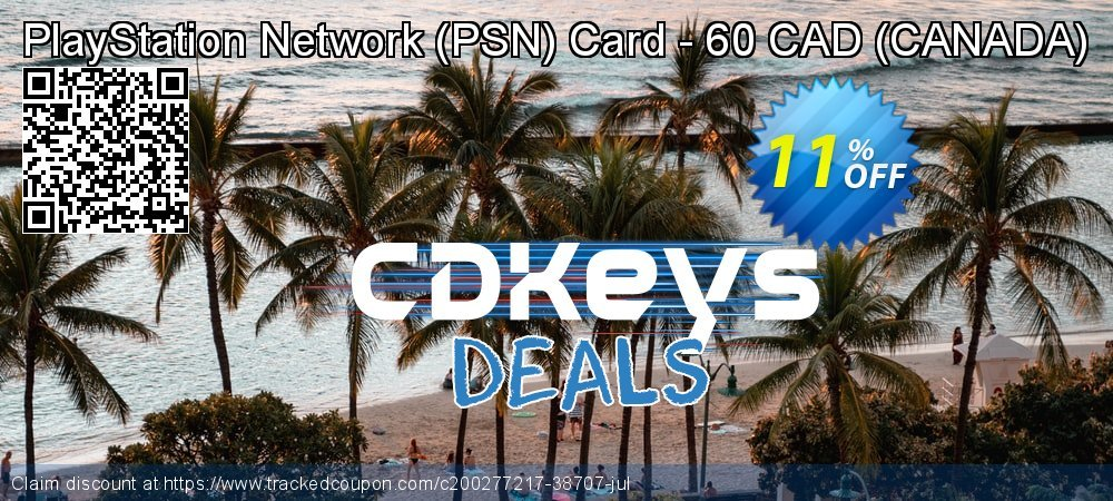 PlayStation Network - PSN Card - 60 CAD - CANADA  coupon on Camera Day discount