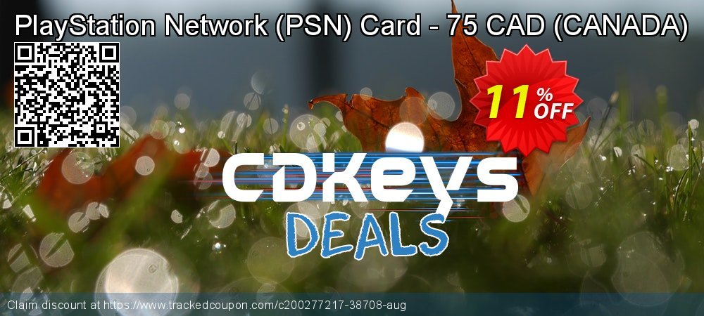 PlayStation Network - PSN Card - 75 CAD - CANADA  coupon on Summer offering discount