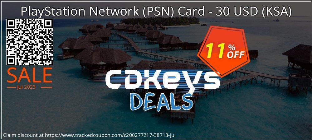 PlayStation Network - PSN Card - 30 USD - KSA  coupon on Egg Day sales