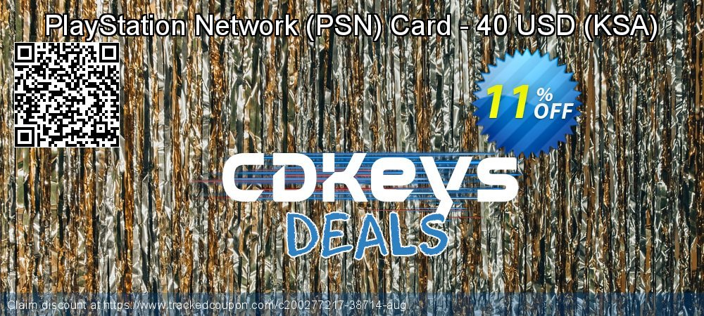PlayStation Network - PSN Card - 40 USD - KSA  coupon on World Bicycle Day deals