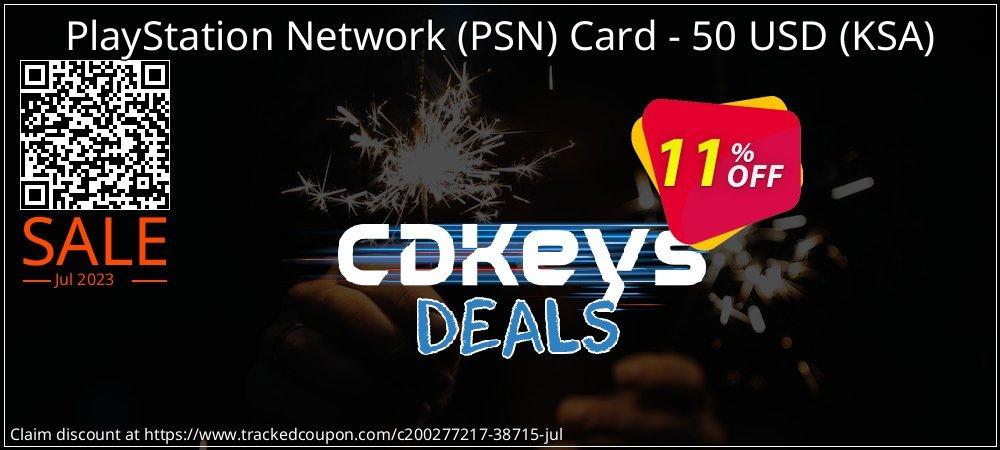 PlayStation Network - PSN Card - 50 USD - KSA  coupon on Social Media Day offer