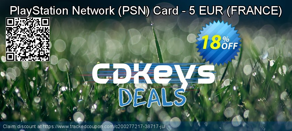 PlayStation Network - PSN Card - 5 EUR - FRANCE  coupon on National Kissing Day offering discount