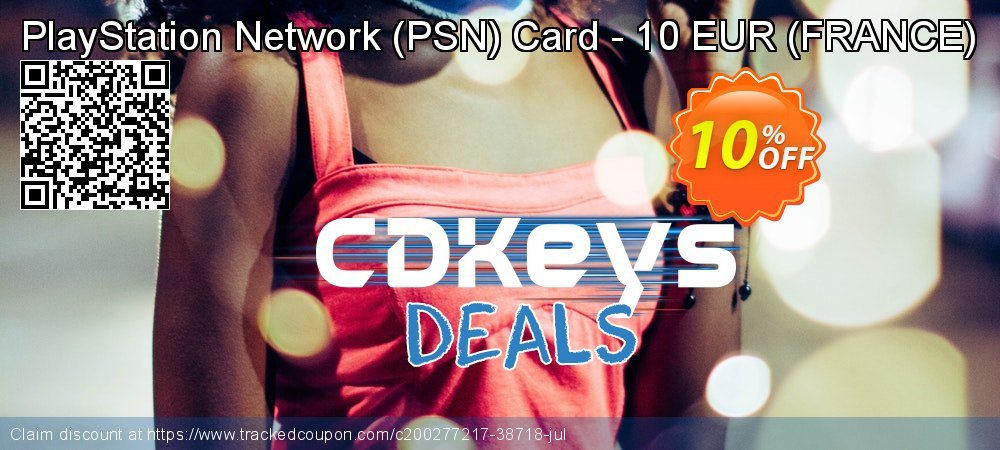 PlayStation Network - PSN Card - 10 EUR - FRANCE  coupon on World Day of Music offering sales
