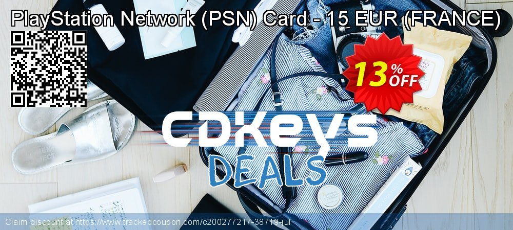 PlayStation Network - PSN Card - 15 EUR - FRANCE  coupon on Hug Holiday super sale