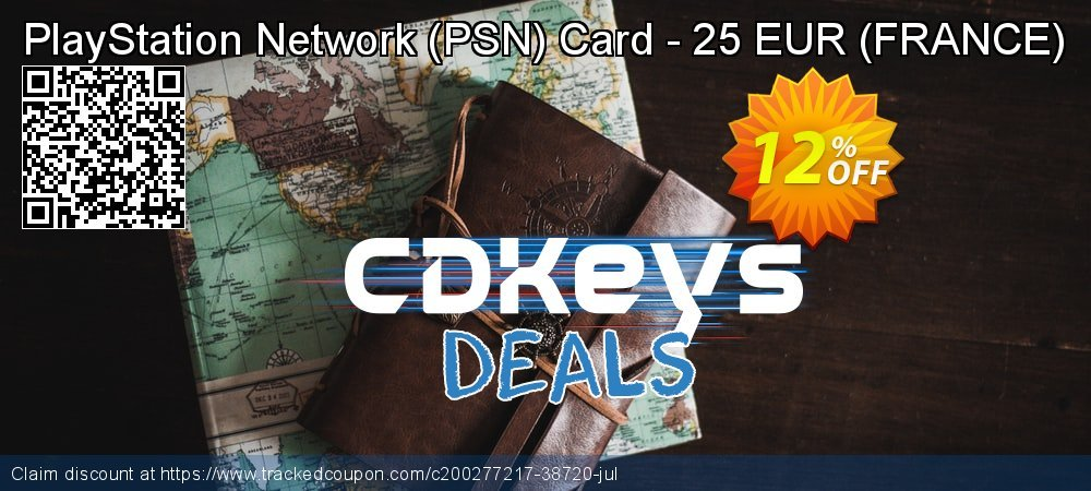 PlayStation Network - PSN Card - 25 EUR - FRANCE  coupon on Camera Day discounts