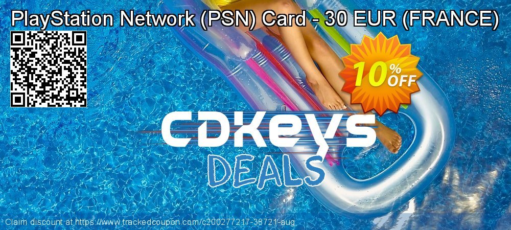 PlayStation Network - PSN Card - 30 EUR - FRANCE  coupon on Summer promotions
