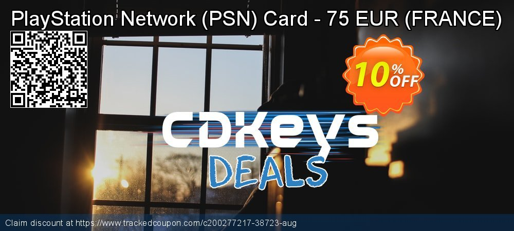 PlayStation Network - PSN Card - 75 EUR - FRANCE  coupon on National Cheese Day deals