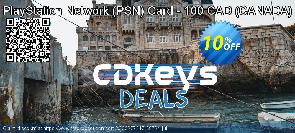 PlayStation Network - PSN Card - 100 CAD - CANADA  coupon on World Bicycle Day offer