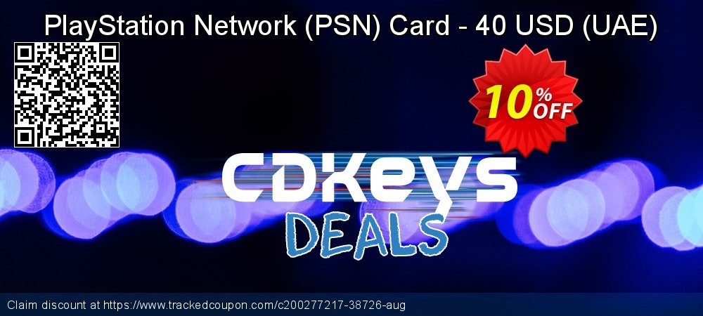 PlayStation Network - PSN Card - 40 USD - UAE  coupon on Egg Day offering discount