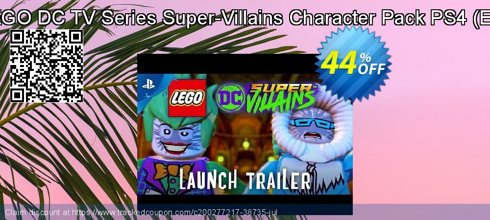 LEGO DC TV Series Super-Villains Character Pack PS4 - EU  coupon on Father's Day offering discount
