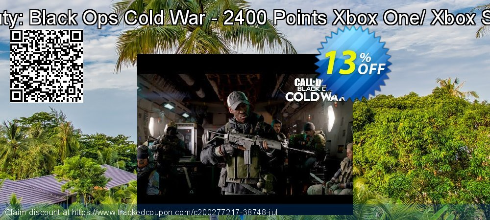 Call of Duty: Black Ops Cold War - 2400 Points Xbox One/ Xbox Series X S coupon on Father's Day promotions