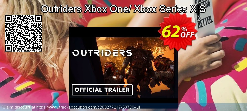 Outriders Xbox One/ Xbox Series X|S coupon on Social Media Day offering discount