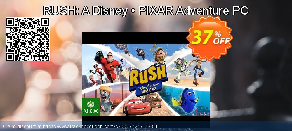 RUSH: A Disney • PIXAR Adventure PC coupon on Video Game Day discounts