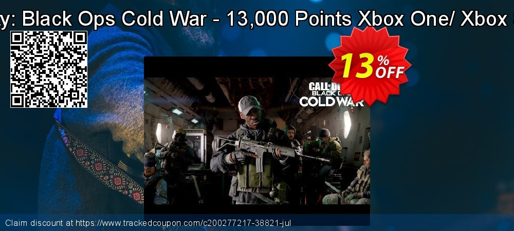Call of Duty: Black Ops Cold War - 13,000 Points Xbox One/ Xbox Series X S coupon on National Kissing Day sales