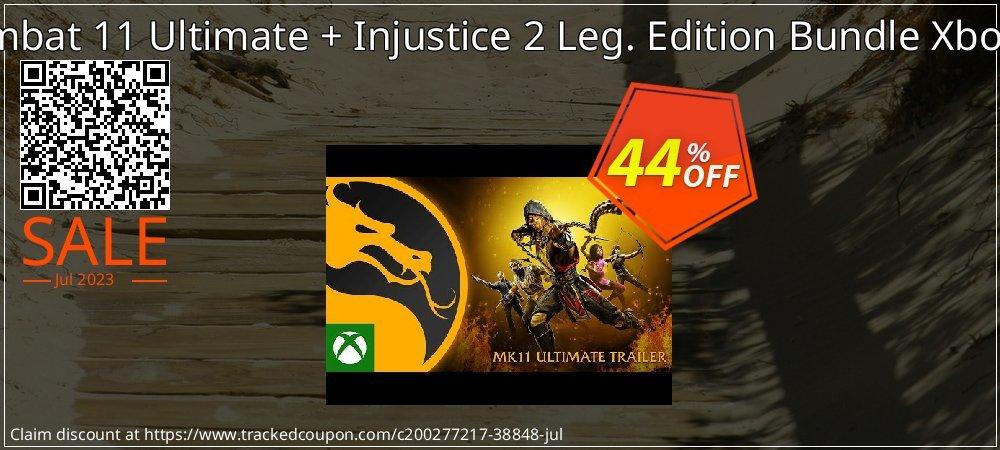 Mortal Kombat 11 Ultimate + Injustice 2 Leg. Edition Bundle Xbox One - UK  coupon on World Day of Music sales