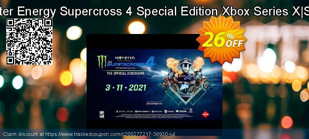 Monster Energy Supercross 4 Special Edition Xbox Series X|S - UK  coupon on Father's Day deals