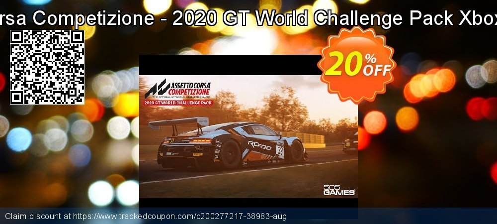 Assetto Corsa Competizione - 2020 GT World Challenge Pack Xbox One - UK  coupon on National Cheese Day sales