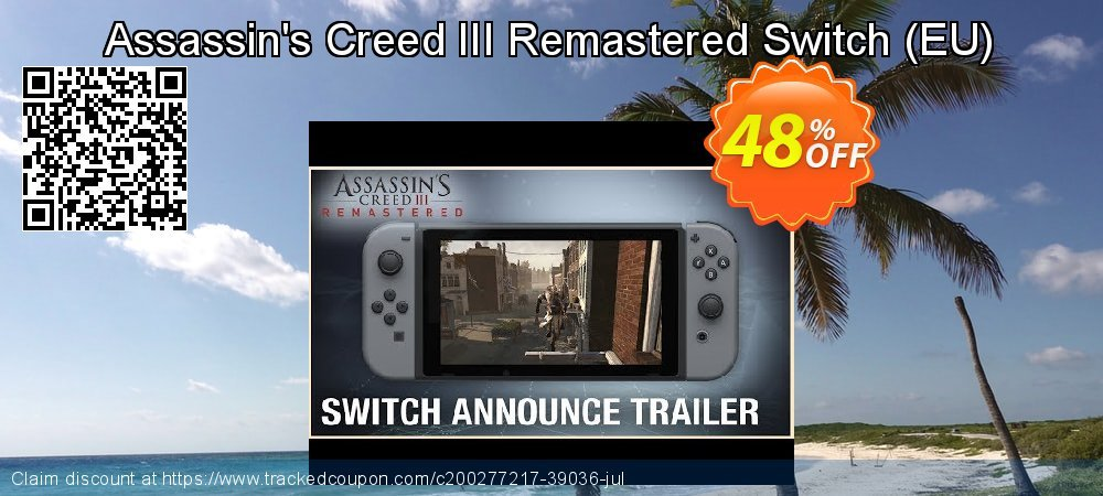 Assassin's Creed III Remastered Switch - EU  coupon on World Bicycle Day promotions