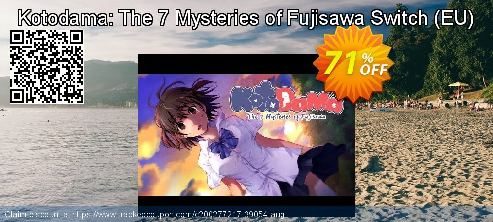 Kotodama: The 7 Mysteries of Fujisawa Switch - EU  coupon on World Oceans Day promotions
