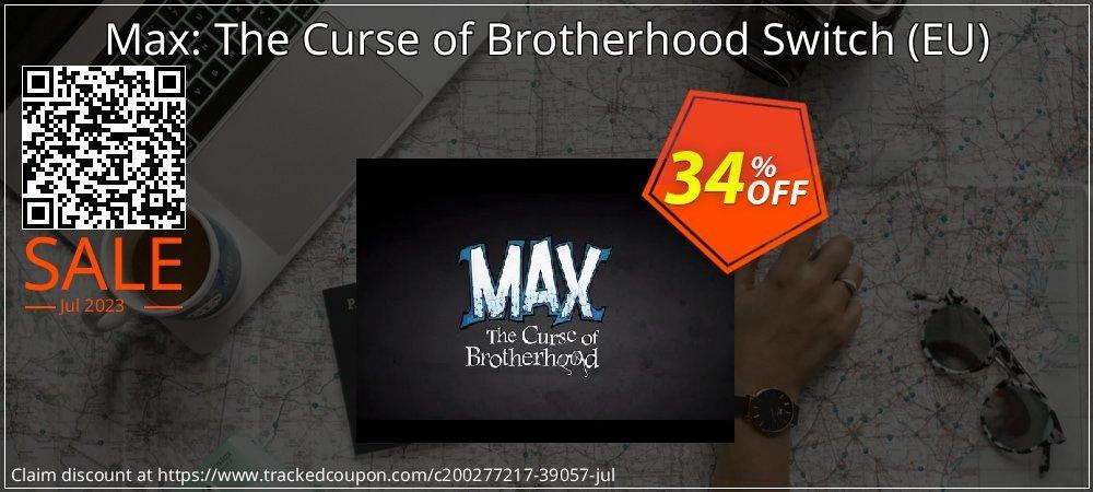 Max: The Curse of Brotherhood Switch - EU  coupon on Hug Holiday offer