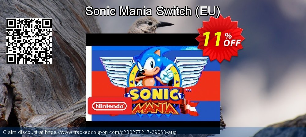 Sonic Mania Switch - EU  coupon on World Milk Day promotions