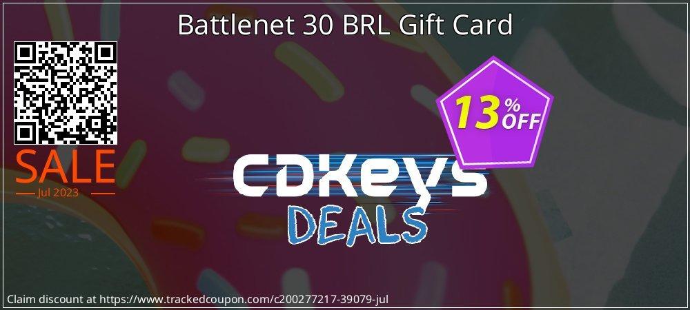 Battlenet 30 BRL Gift Card coupon on Social Media Day super sale