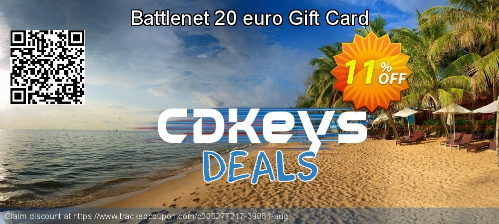 Battlenet 20 euro Gift Card coupon on National Kissing Day promotions