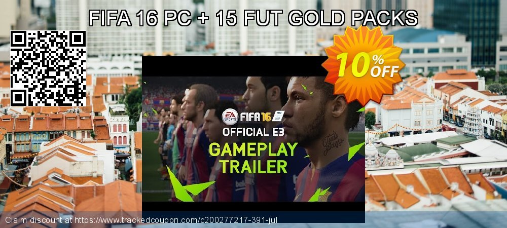 FIFA 16 PC + 15 FUT GOLD PACKS coupon on Tattoo Day deals
