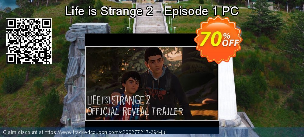 Life is Strange 2 - Episode 1 PC coupon on Happy New Year discounts