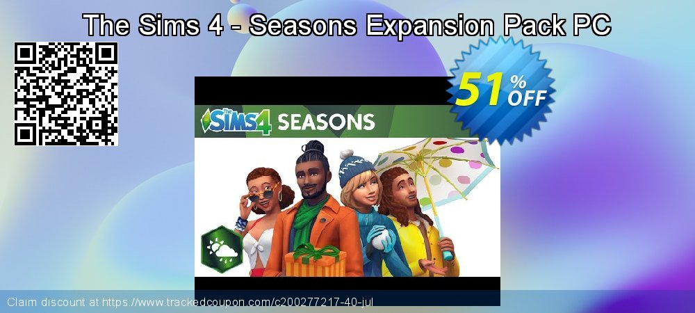 The Sims 4 - Seasons Expansion Pack PC coupon on Mom Day promotions