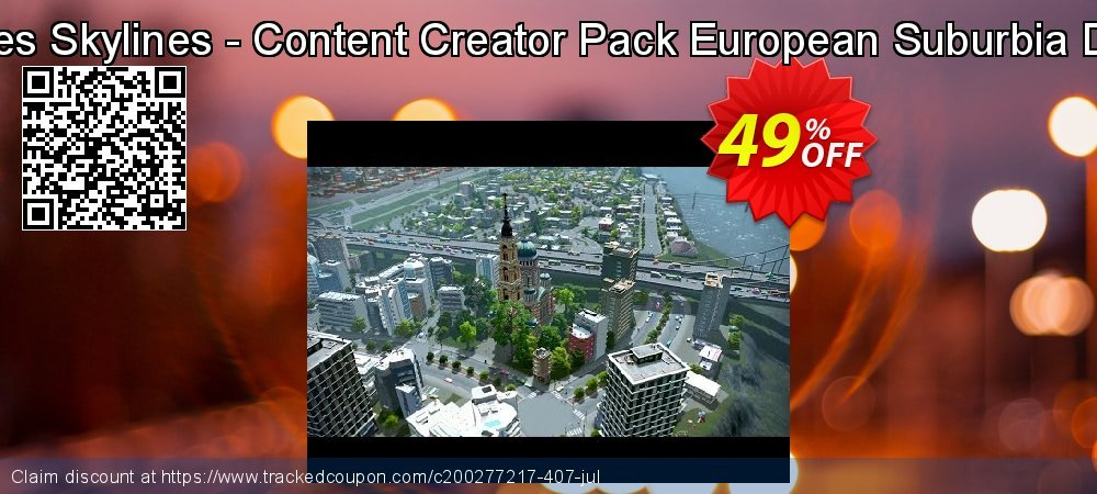 Cities Skylines - Content Creator Pack European Suburbia DLC coupon on Summer promotions